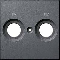 Merten Телевизионная розетка двойная проходная TV+Radio (антрацит) System M