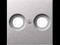 Merten Телевизионная розетка двойная проходная TV+Radio (алюминий) System M