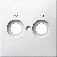 Merten Телевизионная розетка двойная проходная TV+Radio (активный белый) System M