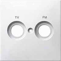 Merten Телевизионная розетка двойная оконечная TV+Radio (активный белый) System M