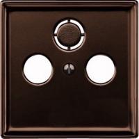 Merten Телевизионная розетка тройная проходная TV+Radio+Sat (коричневый) System Design
